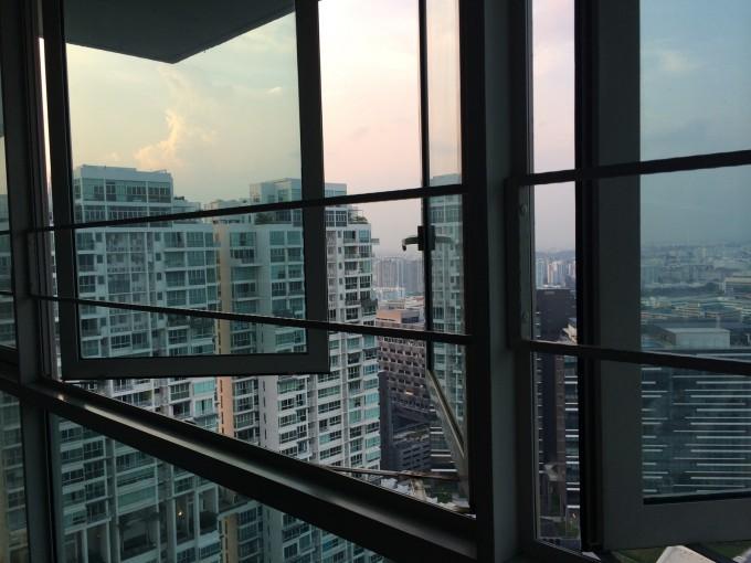 В нашей новой квартире окна были во всю стену. От вида захватывало дух: ура, мы в Сингапуре!