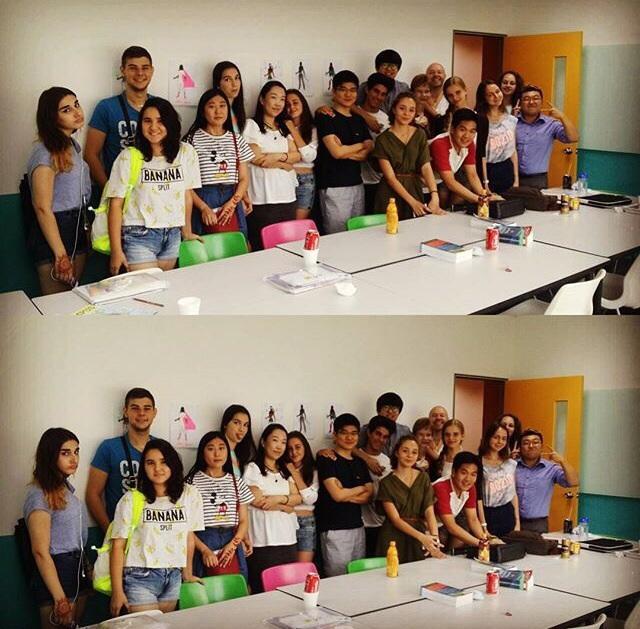 Моя группа! На одном фото студенты из Испании, Болгарии, Таиланда, Южной Кореи, Сингапура! Расставаться с одногруппниками очень не хотелось!